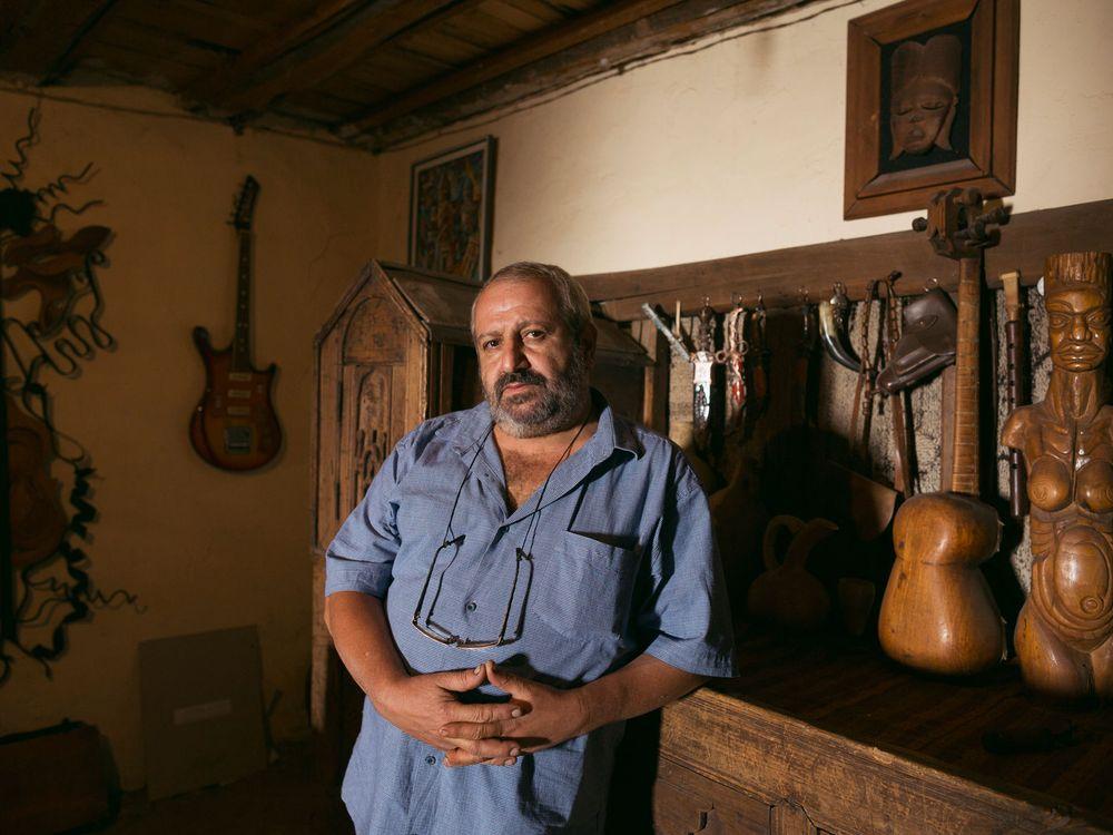 Artyom Ghazaryan in his studio in Yeghegnadzor.  (Photo by Narek Harutyunyan, My Armenia Program)