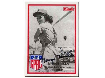 In 1939, at age 13, Villa played for the East Los Angeles girls' community team, the Garvey Stars. Over the next few years, she played for the semiprofessional Orange Lionettes team in Southern California and was signed to play in the AAGPBL in 1946.