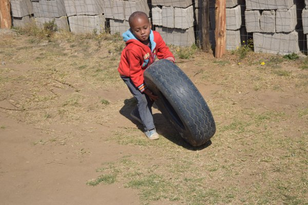 Orphan boy playing thumbnail
