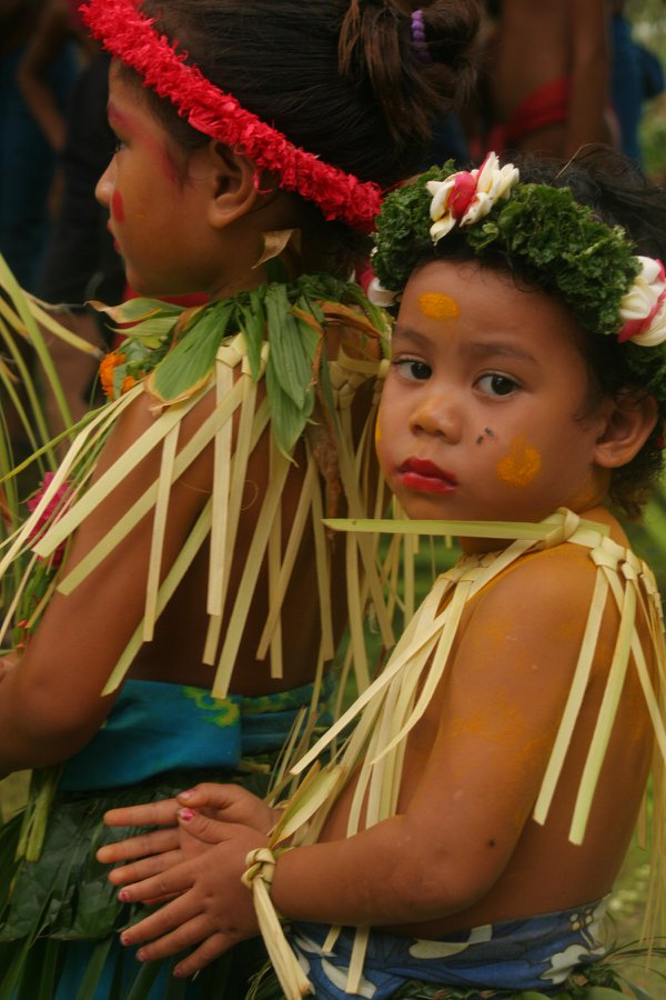 Young Girl at a Dance Ceremony on the Island of Ifaluk, Micronesia thumbnail