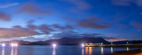 night scene of seashore at Ma On Shan thumbnail