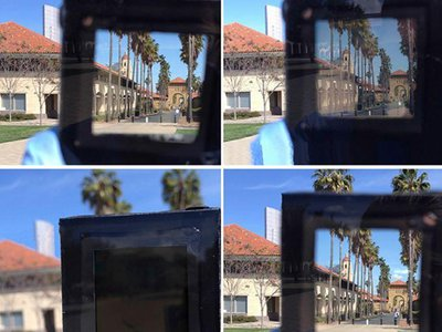 A smart window prototype dims in response to electricity.