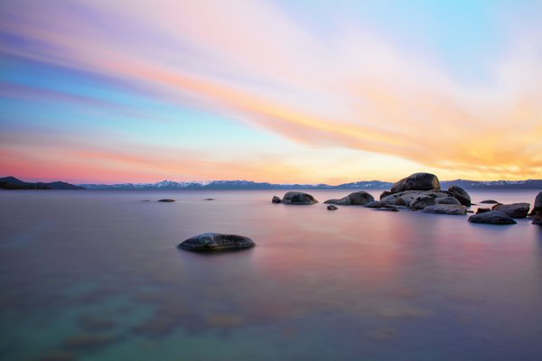 Colorful Sunset Over Lake Tahoe thumbnail