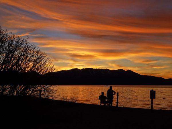 Sunset on Lake Tahoe, California thumbnail