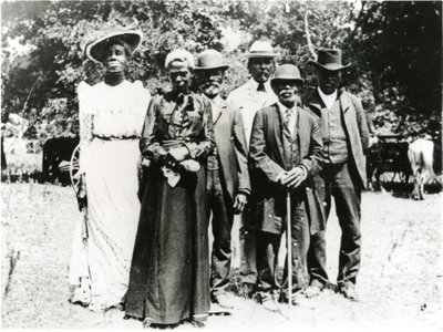 Grace Murray Stephenson and family at an Emancipation Day Celebration in 1900.