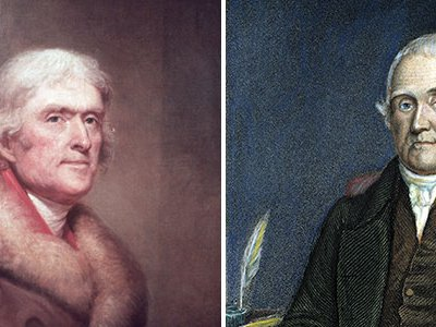 The opposing voices in America's first great debate about global warming was between Thomas Jefferson and Noah Webster in 1799.