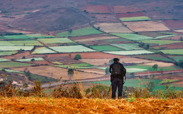 It is a place with many colourful fields in Myanmar. thumbnail