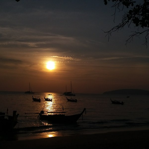 The Long Tail Boat and Sunset thumbnail