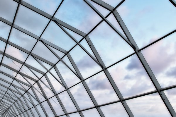 Metal-framed structure with a beautiful sky thumbnail