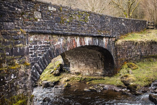 The Bridge at Blaen-y-Glyn Waterfalls Walk thumbnail
