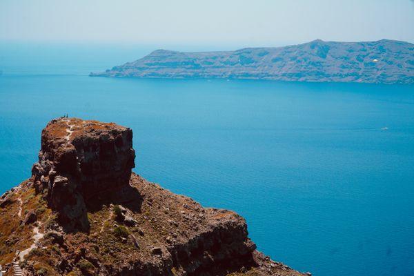 Overlooking Skaros Rock in Santorini thumbnail