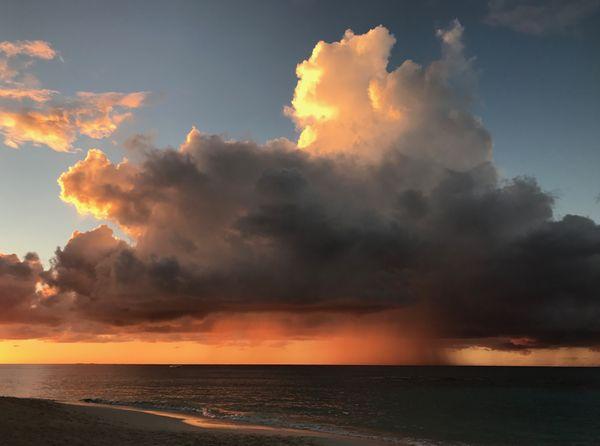 Anguilla Sunset and Rain Shower thumbnail