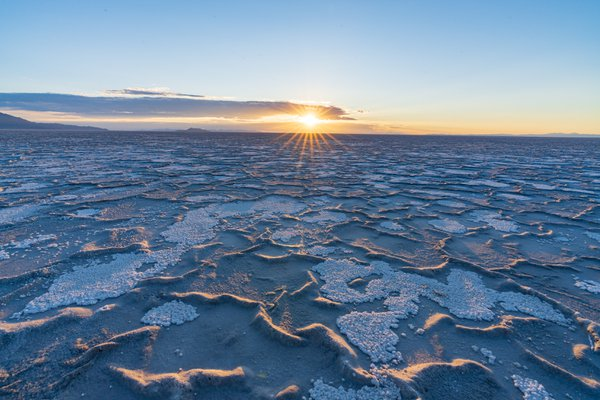 Salt Flat Striations at Sunrise thumbnail