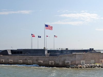 After Union troops refused to evacuate Fort Sumter, today a National Monument, Confederates opened fire.