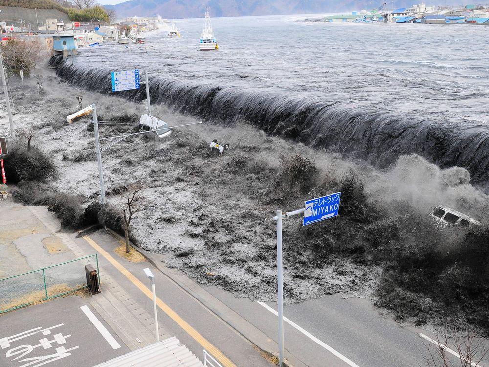 Overflowed levee