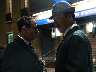 Merab Ninidze and Benedict Cumberbatch in The Courier.