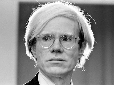 Andy Warhol photographed in 1973.