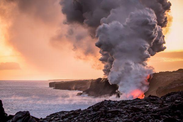 Sunset over Lava thumbnail