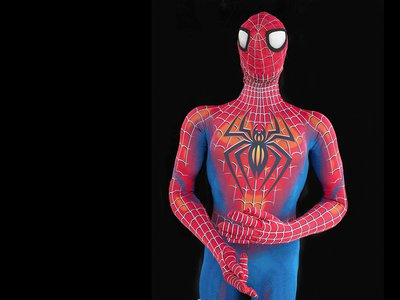 New to the collections: Actor Reeve Carney's red and blue spandex bodysuit, which he wore while starring in Spider-Man: Turn Off the Dark