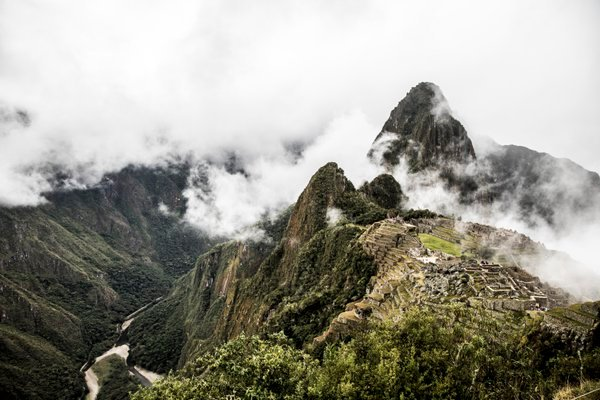 Machu Picchu emerging from the clouds after a rainstorm thumbnail