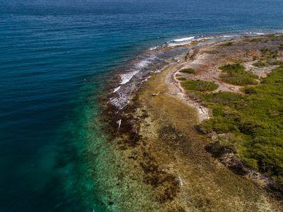 The coast on the island of Curaçao