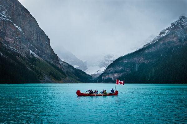 Canoeing at Lake Louise thumbnail