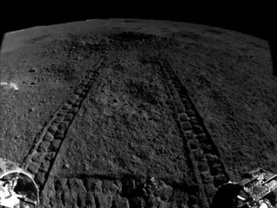 A view of the small crater Yutu recently analyzed.
