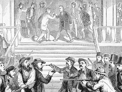 According to historian Adam Goodheart, the media played an important role in driving the country toward secession. When people in the South spoke, people in the North heard it and vice versa.
