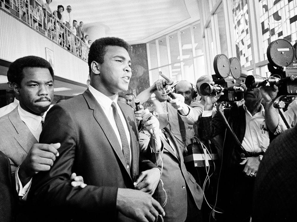 Heavyweight champion Muhammad Ali