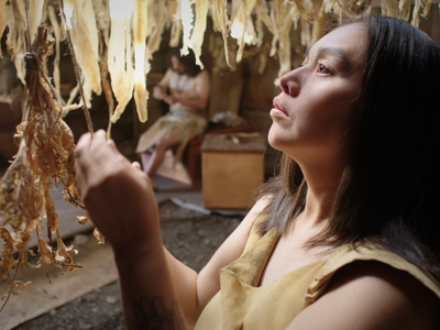 Sgaawaay K'uuna is one of more than 20 films celebrating language diversity that will be screened at the Smithsonian's Mother Tongue Film Festival. (Still from Sgaawaay K'uuna (Edge of the Knife))