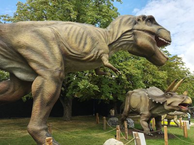 Each of the more than 50 animatronic dinosaurs remains fully functional.
