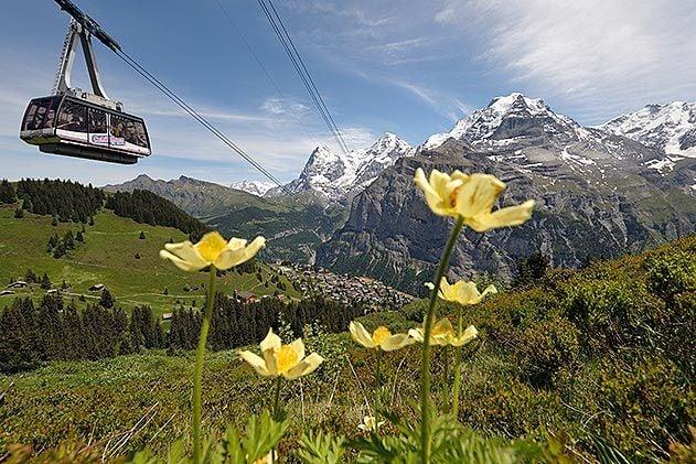 Gimmelwald Switzerland Schilthorn Cableway