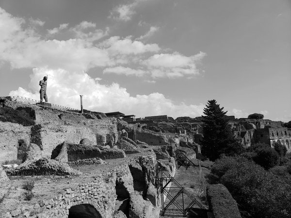 Before All Turns to Dust: Statue Standing on a Hill in Pompeii thumbnail