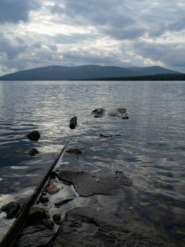 Rocky path to the lake thumbnail