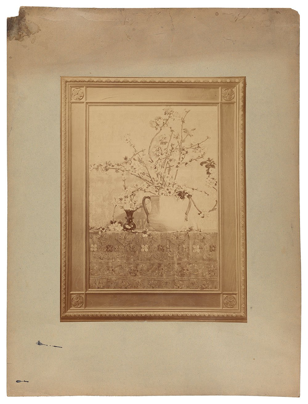 Photograph of Charles Caryl Coleman's still life with double handled vase.