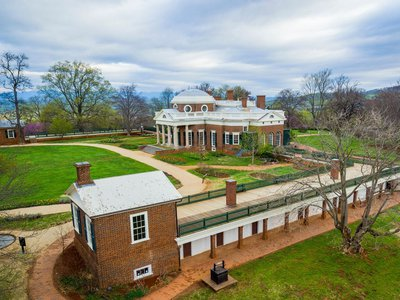 Monticello's main house and South Wing