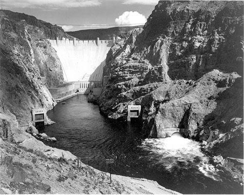The Hoover Dam in 1933