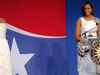 First lady Michelle Obama's donates her Jason Wu inaugural ball gown to the First Ladies' Collection at the National Museum of American History.
