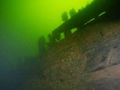 One of the wrecks discovered off the coast of Vaxholm
