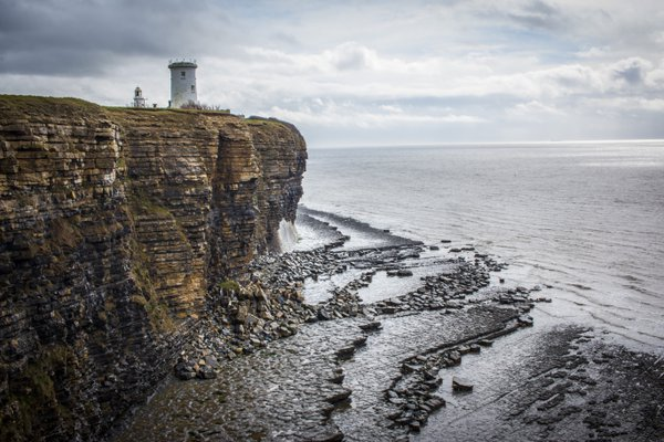 The Cliffs at the Nash Point Lighthouse thumbnail