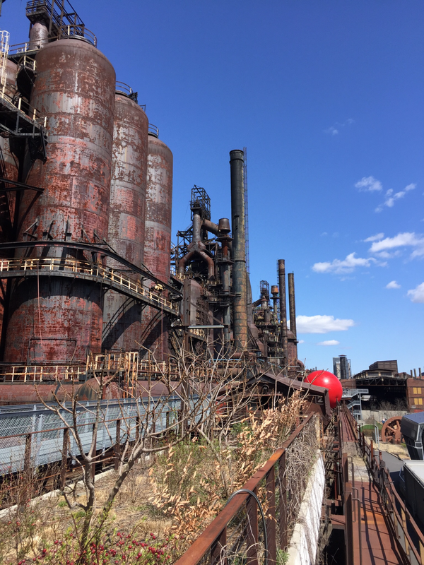 Bethlehem Steel Plant with a pop of color thumbnail