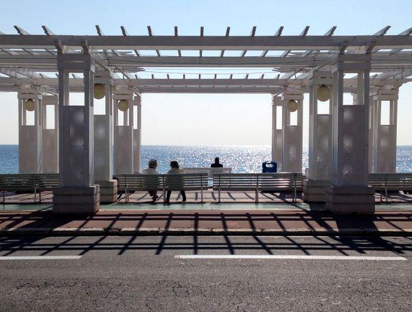 Enjoying Winter's Afternoon Sun, Nice, France thumbnail