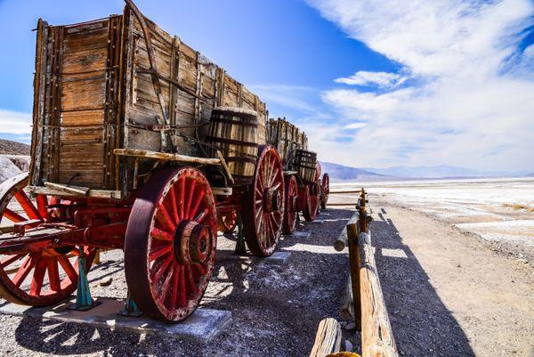 20 Mule Team Wagon in Death Valley, Harmony Borax Works. thumbnail