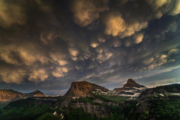 Glacier National Park Stormy Sky thumbnail