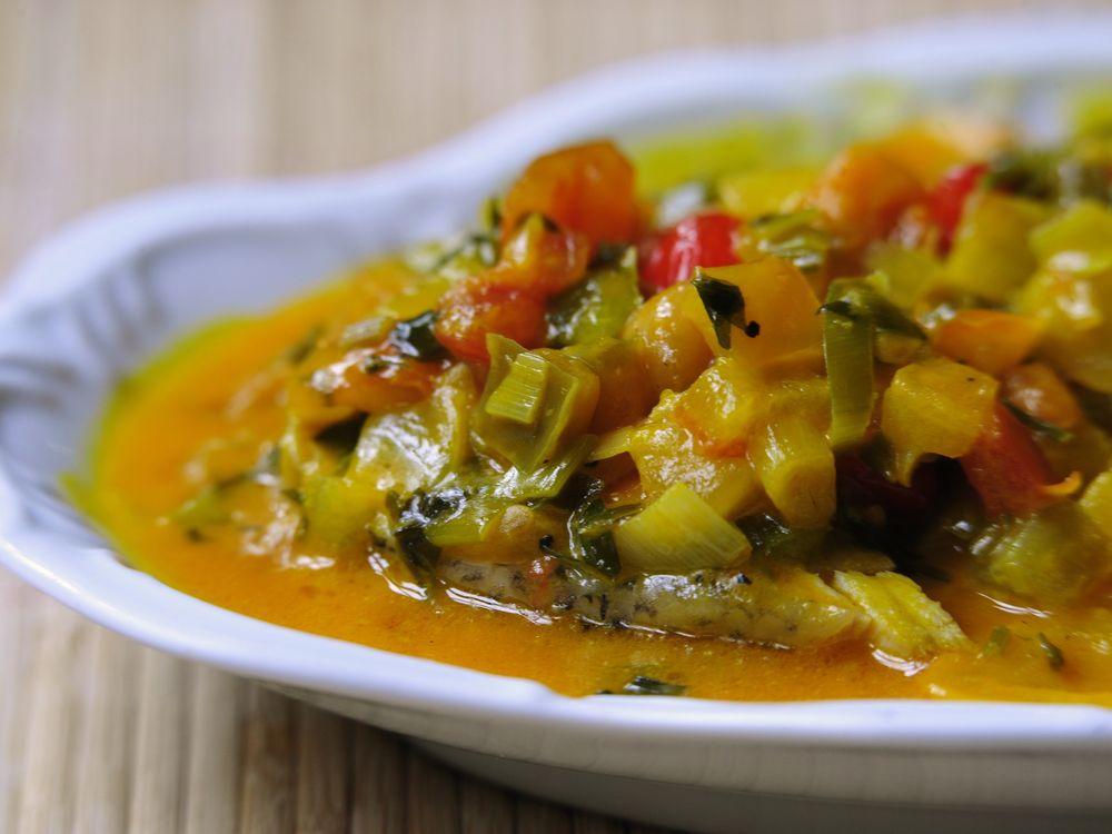Moqueca, a soup found in northeast Brazil