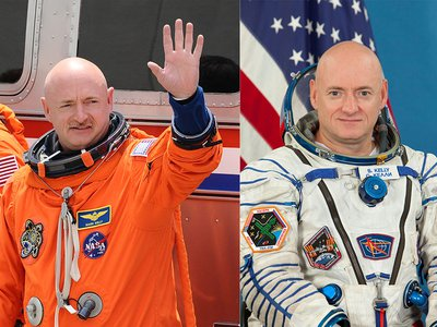 When Scott Kelly (right) goes to the International Space Station in 2015, he and his twin brother Mark (left) will participate in tests to study how spaceflight affects the body.