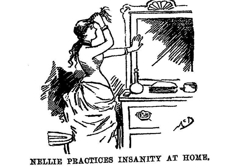 Bly Practicing Insanity Cartoon