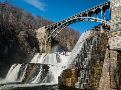 The New Croton Dam at Croton Gorge Park, about 40 miles north of New York City.