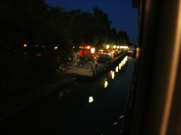 Lights of the port at night thumbnail