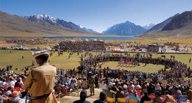 At an altitude of 12,300 feet, the Shandur Pass is usually populated by grazing yaks. But once a year it turns into the world's highest polo ground. When teams from Chitral and Gilgit face off—as they have since 1933—tribesmen gather for the mayhem.